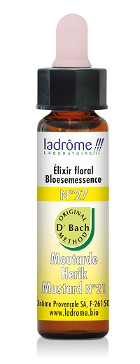 Flacon d'élixir floral bio N°27 Moutarde 10 ml